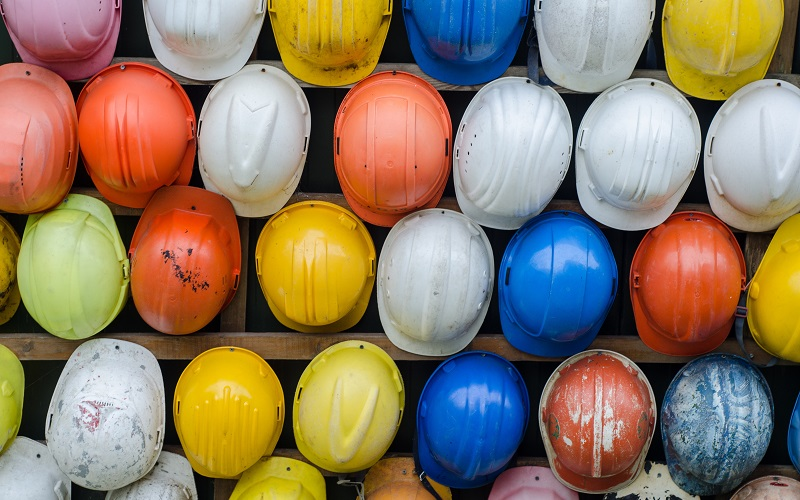 A collection of hardhats